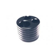 3 Hole Aluminium Stand - Black