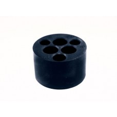 10 Hole Rubber Stand - Black