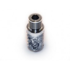 Mad Hatter Rebuildable Dripping Atomizer Clone Silver Carbon Fiber Turbo Version