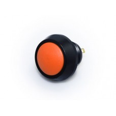 12mm Push Button Switch - Black & Orange