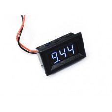 "0.36"" LED Display DC Voltmeter with Mounting Surround - Blue"