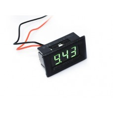 "0.36"" LED Display DC Voltmeter with Mounting Surround - Green"