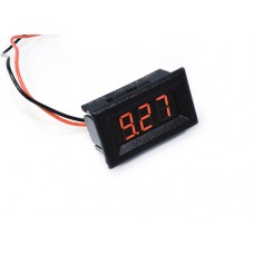 "0.36"" LED Display DC Voltmeter with Mounting Surround - Red"
