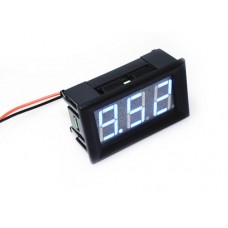 "0.56"" LED Display DC Voltmeter with Mounting Surround - Blue"