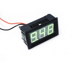 "0.56"" LED Display DC Voltmeter with Mounting Surround - Green"