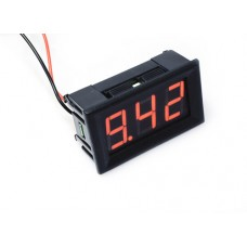 "0.56"" LED Display DC Voltmeter with Mounting Surround - Red"