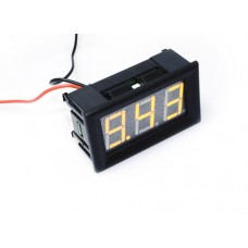"0.56"" LED Display DC Voltmeter with Mounting Surround - Yellow"